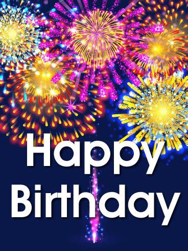vivid birthday fireworks card birthday greeting cards