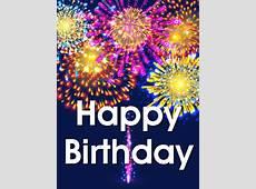 Vivid Birthday Fireworks Card Birthday & Greeting Cards