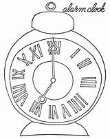 Pages Clock Coloring Alarm Wake Pocket Sky Coloringsky sketch template