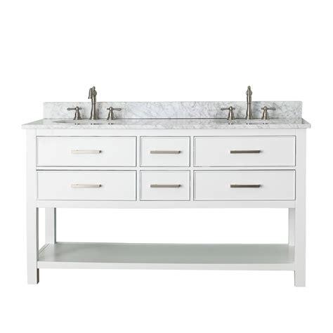 avanity brooks 60 quot double bathroom vanity white free shipping modern bathroom