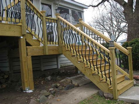 Deck Railing Pictures Stairs by Stairs The Right Steps On Building Deck Stair Railing