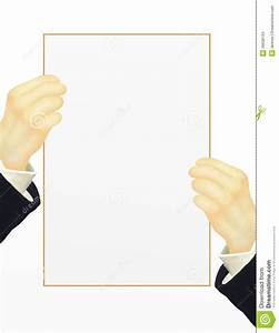 Human Hand Holding Blank Paper With Copy Space Stock ...