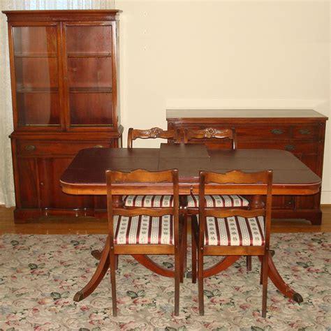 china cabinet dining table bernhardt duncan phyfe mahogany dining room set double