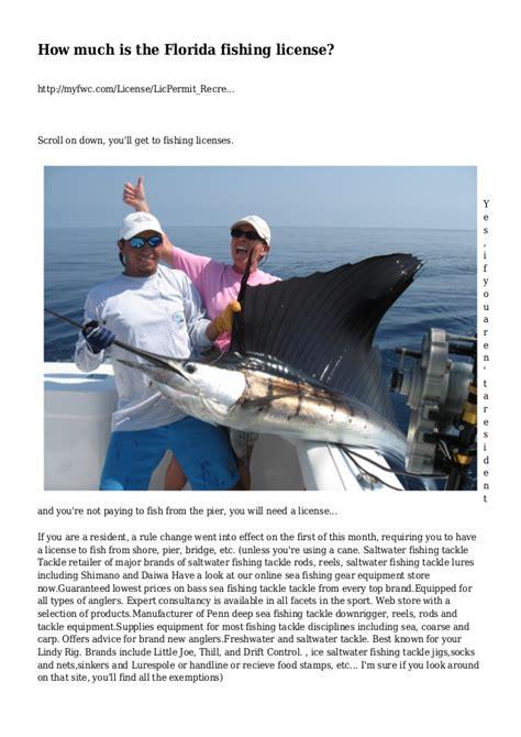 license fishing florida much slideshare myfwc scroll