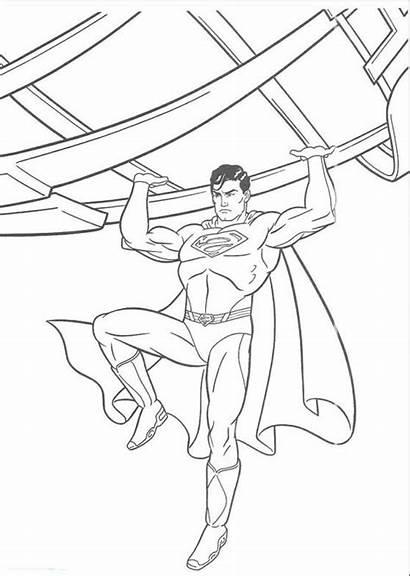 Superman Mewarnai Gambar Manusia Besi Kartun Belajar