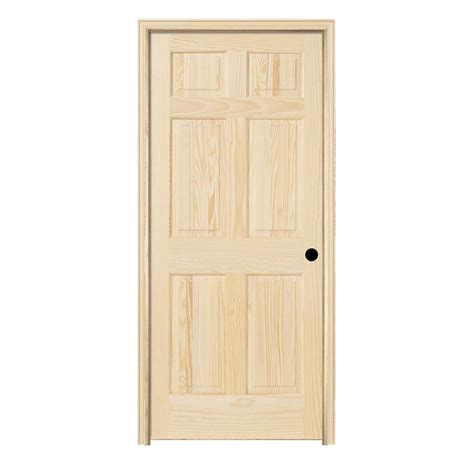 6 Panel Wood Interior Doors by Jeld Wen 30 In X 78 In Pine Unfinished Left 6 Panel