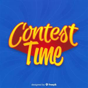 Contest time background with typography Vector | Free Download  Contest