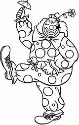Clown Coloring Happy Pages Umbrella Walking Little Printable Print Getcolorings sketch template