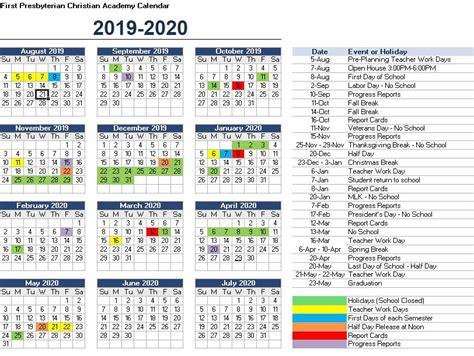 calendar presbyterian christian academy