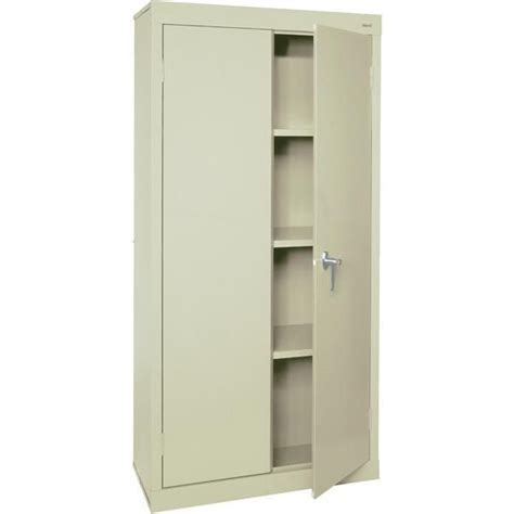 Storage Cabinet With Lock : Contemporary Garage Room with