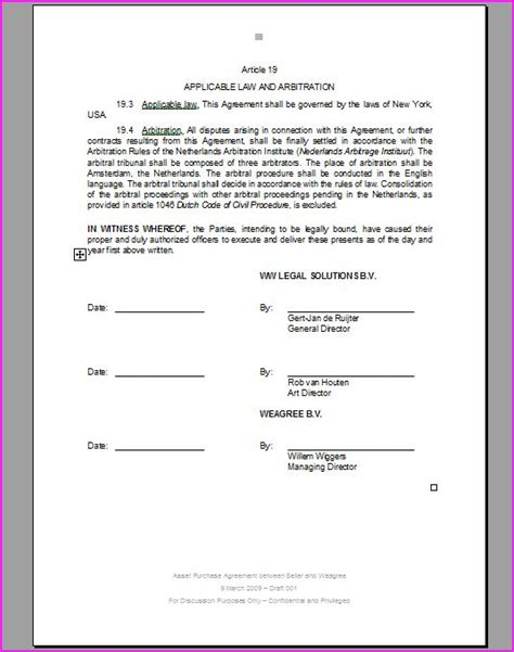 contract signature page template uk witnesseth archives weagree