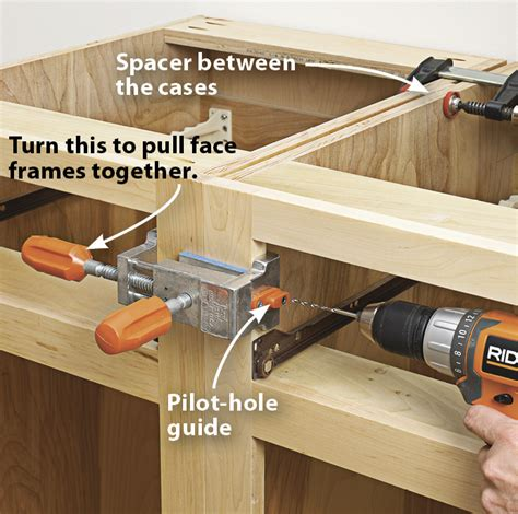how to attach kitchen cabinets together make cabinets the easy way wood magazine 8500
