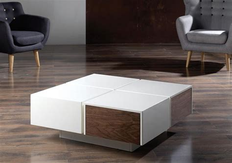 Contemporary Coffee Table With Storage Square