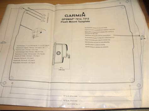 New Garmin Flush Mount Template For Gpsmap 7012 7212
