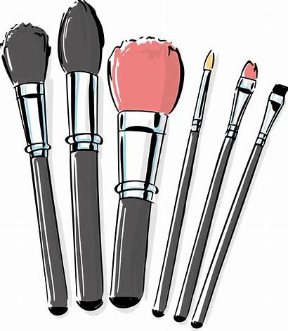 Brush Makeup Brushes Clipart Clip Cosmetic Transparent
