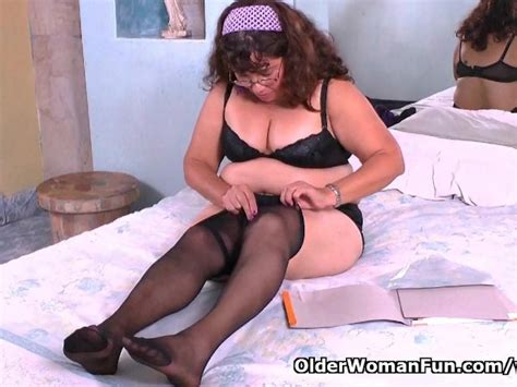 Latina Granny Maribel Can T Control Her Sex Urge In Nylon