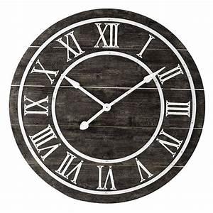 Horloge En Metal : horloge en m tal et bois d 90 cm portland maisons du monde ~ Teatrodelosmanantiales.com Idées de Décoration