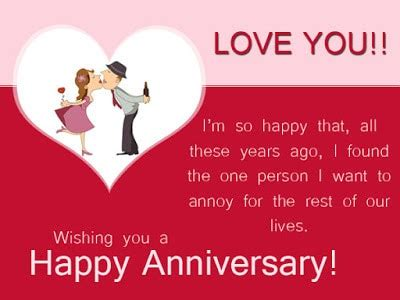 funny wedding anniversary wishes  husband  wife