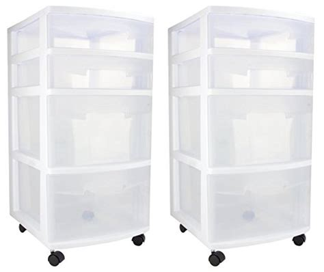 Sterilite 4 Drawer Cabinet 2 Pack by Sterilite 28228002 4 Drawer Cart 2 Pack Sterilite Sterilite