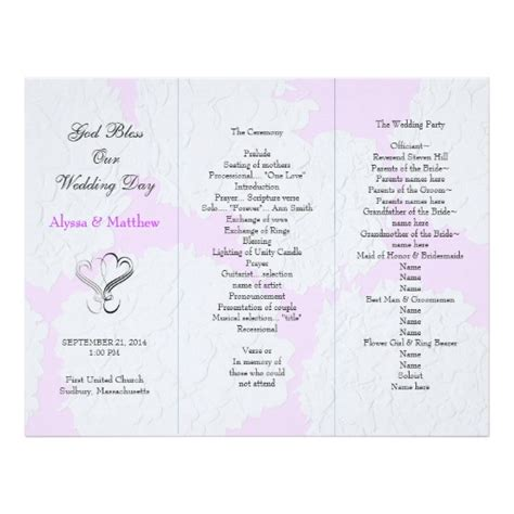 15 Tri Fold Wedding Invitations Template Psd Images Tri