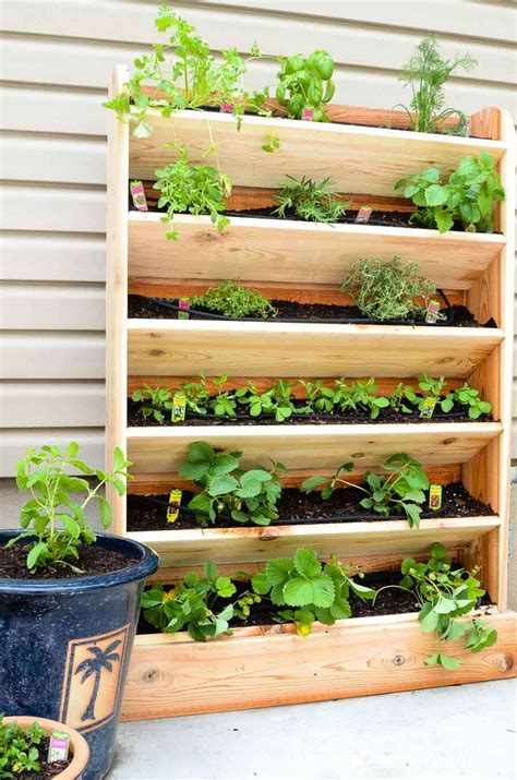 Vertical Gardening System by Diy Vertical Garden With Drip Watering System A Houseful