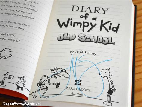 Coupon Savvy Sarah Diary Of A Wimpy Kid Old School By
