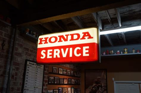 Honda Service by Retro Honda Service Sign At The Mungenast Classic