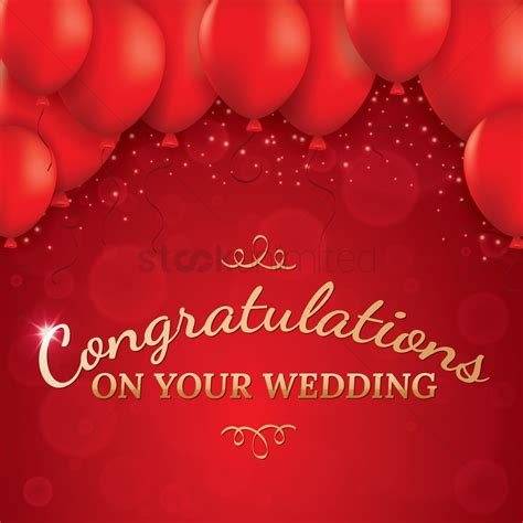 wedding greeting card vector image  stockunlimited
