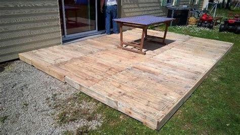 build pallet deck outdoors pallet decking deck flooring pallet floors