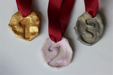 salt dough olympic medals fun family crafts