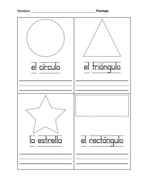 worksheets for kindergarten basic shapes in 493 | cdceb9fc981407b008119b25a3a131a5 preschool shapes preschool spanish activities