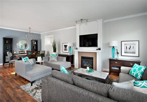 Grey And Turquoise Living Room by Obsessed With Turquoise And Refreshing Yet