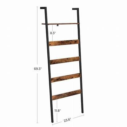 Ladder Blanket Shelf Industrial Shelves