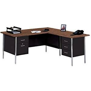 amazon com 42 quot w l shaped office desk with right return