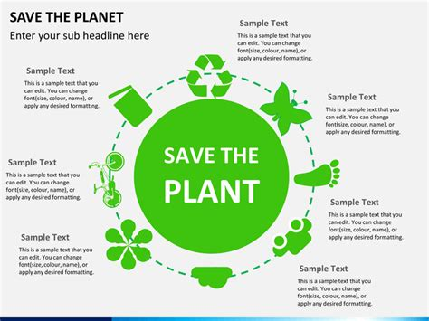 Save The Planet Powerpoint Template Sketchbubble