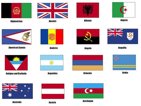 countries with the letter a flags free stock photo flags a 118 19501