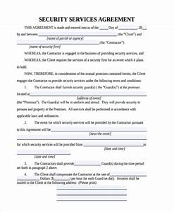 security agreement form samples 9 free documents in With security company contract template