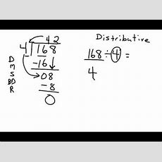 Distributive Property Used In Division Youtube