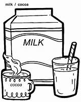 Milk Coloring Pages sketch template