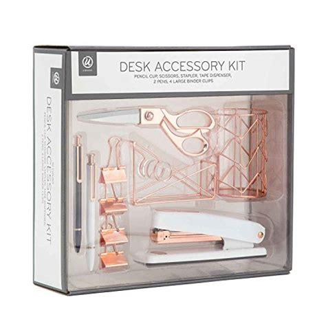 u brands desk accessory kit u brands desk accessory organization kit rose gold buy