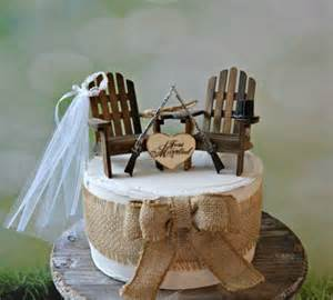western wedding cake topper gun wedding chairs lake cing themed wedding cake