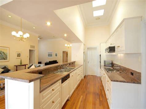 gallery kitchen ideas modern galley kitchen design using floorboards kitchen photo 358580