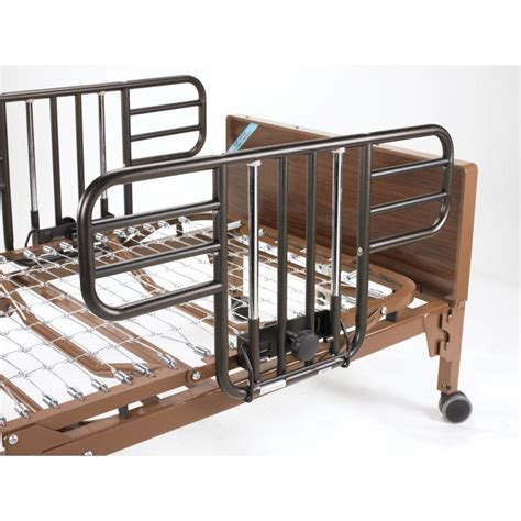 27529 bed rails for no gap half length side bed rails with brown vein finish