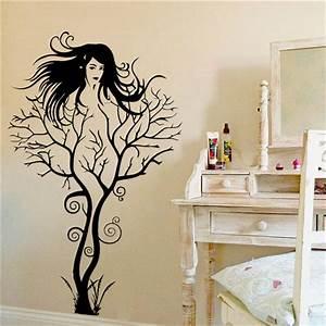 New Creative Sexy Girl Tree Wall Stickers Home Decor ...