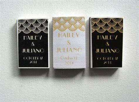 wedding favor custom matchboxes set