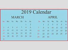 Editable March 2019 Calendar Printable PDF, Word, Excel