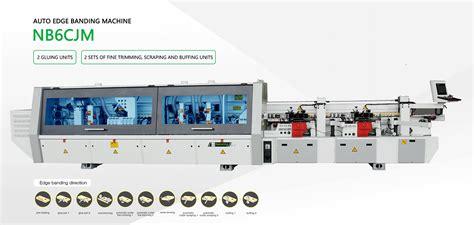 edge banding machine  double gluing units nbcjm nanxing machinery