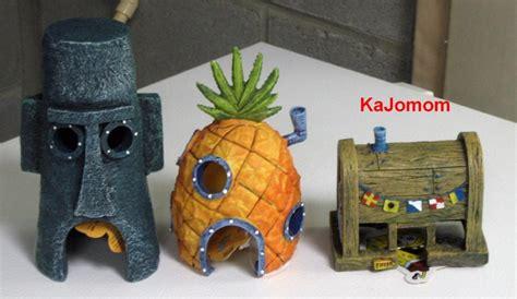 spongebob pineapple squidward krusty home aquarium
