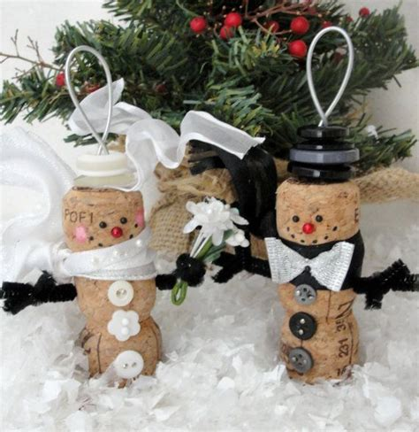 Cork Planters Kreative Bastelideen by And Groom Snowmen Chagne Cork Ornaments By