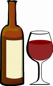Glass Of Wine With Wine Bottle Clip Art at Clker.com ...